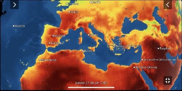 Oleada de calor sofoca España, Francia e Italia