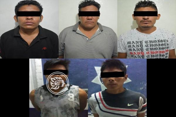 En una noche capturan a 5 delincuentes en Coatzacoalcos