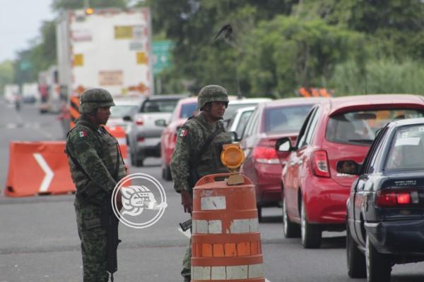 Marina y Fuerza Aérea blinda frontera entre Veracruz y Tabasco