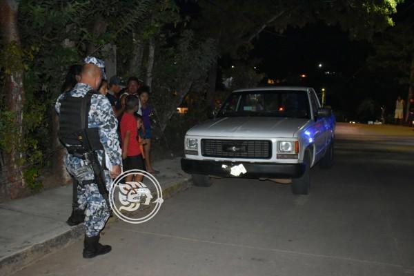 Empleado del Ayuntamiento de Acayucan provoca accidente