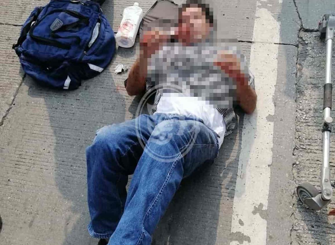 Atropellan a joven en Minatitlán; se lesiona ambas piernas