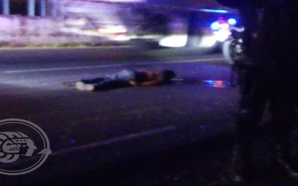 Fallece hombre arrollado en autopista Nuevo Teapa- Cosoleacaque