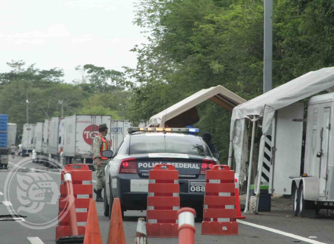 PF refuerza la seguridad en carreteras del sur de Veracruz