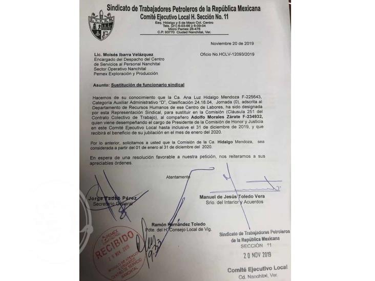 Adolfo Morales Zárate dejará cargo sindical en la Sección 11