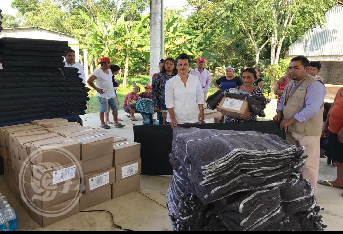 Apoya Saúl Reyes a damnificados de inundaciones