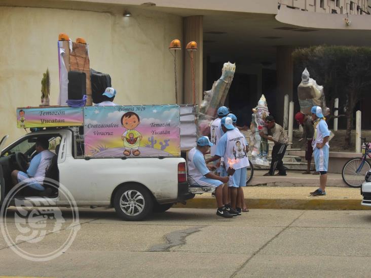 Peregrinos parten de Coatzacoalcos de regreso a Mérida