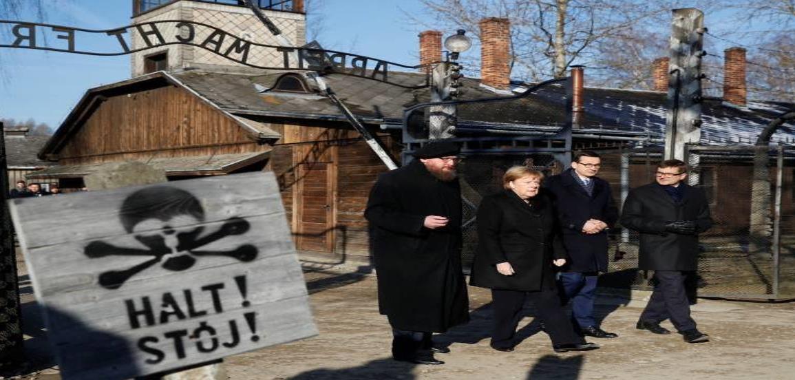 La canciller Merkel visita Auschwitz por primera vez
