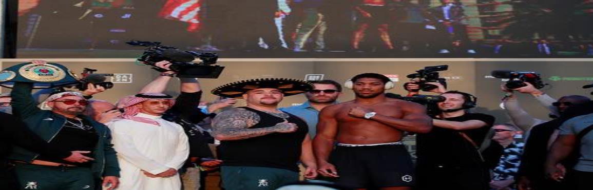 Andy Ruiz y Anthony Joshua vencen la báscula