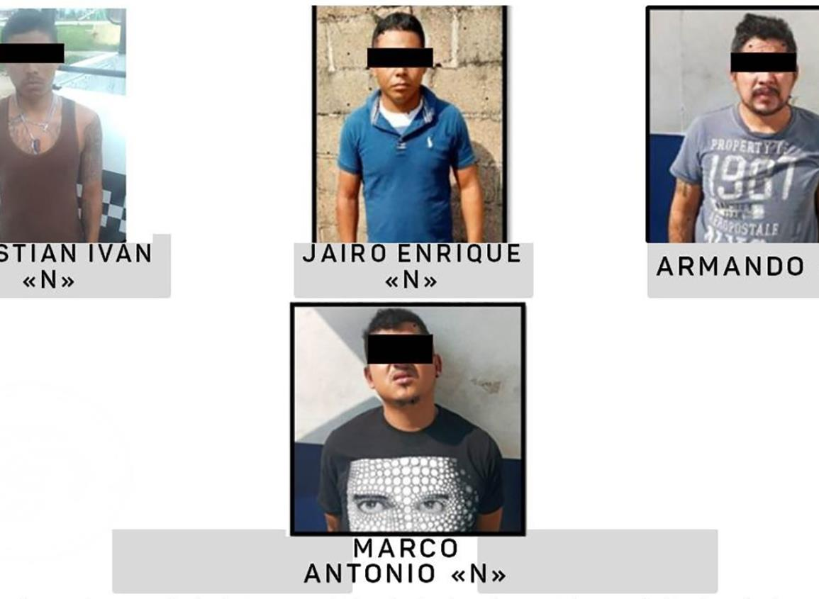 Navales capturaron a 4 narcomenudistas en Coatzacoalcos