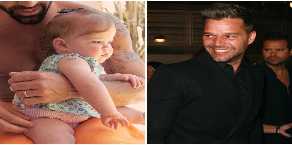 Ricky Martin presume fotografías con su bella hija Lucía