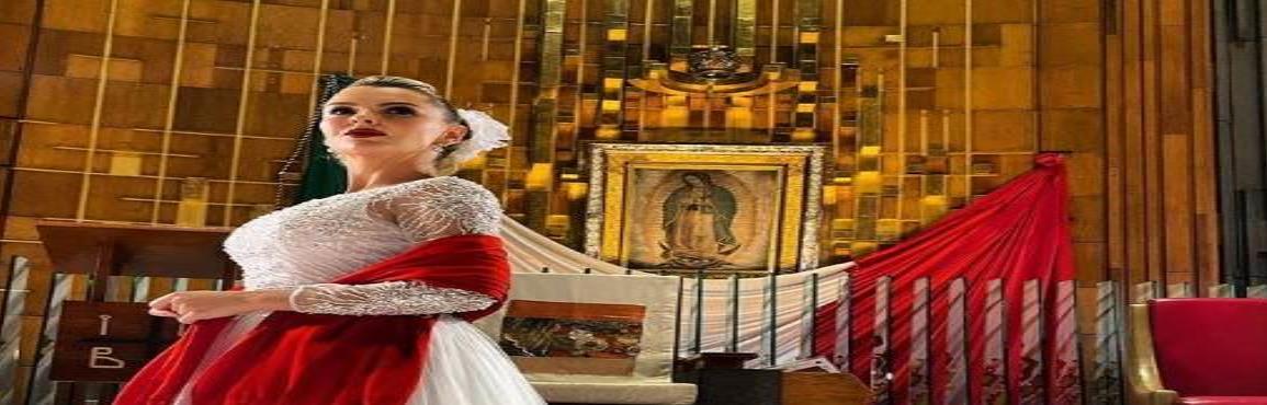 Marjorie de Sousa le cantó a la Virgen de Guadalupe