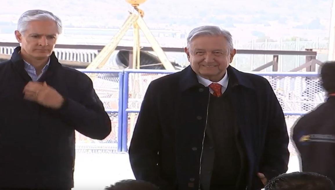 AMLO inaugura el Túnel Emisor Oriente en el Estado de México