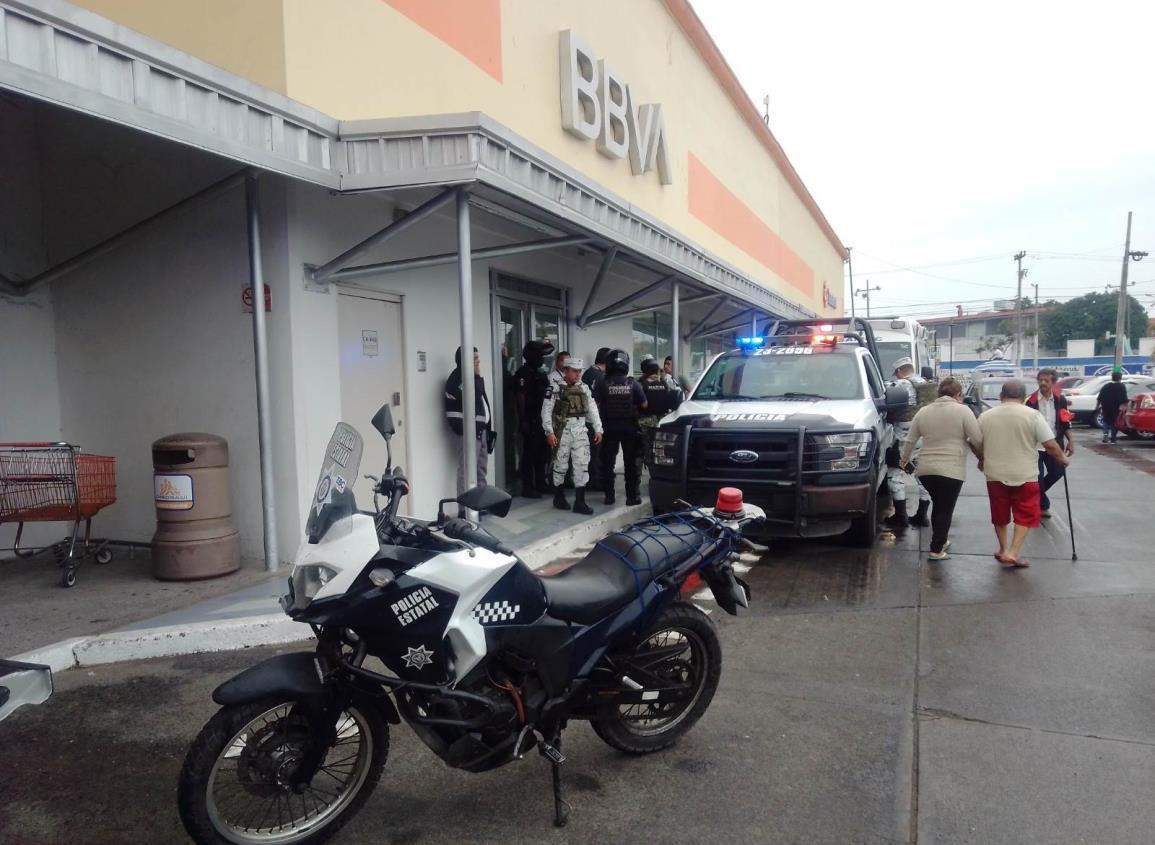 Asaltan banco al poniente de Veracruz Puerto