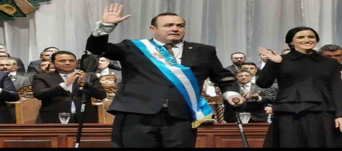 Giammattei jura como nuevo presidente de Guatemala