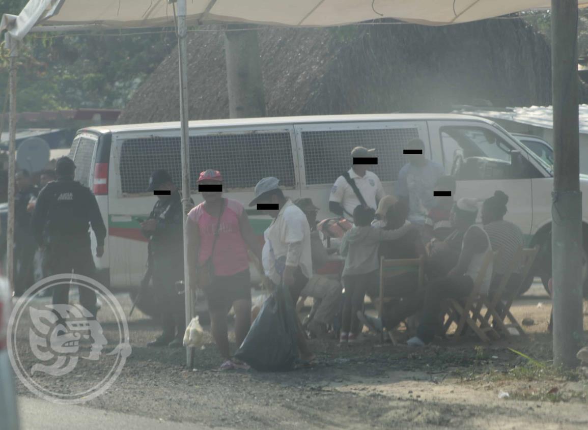 Asaltan a un grupo migrantes en límites de Veracruz y Tabasco