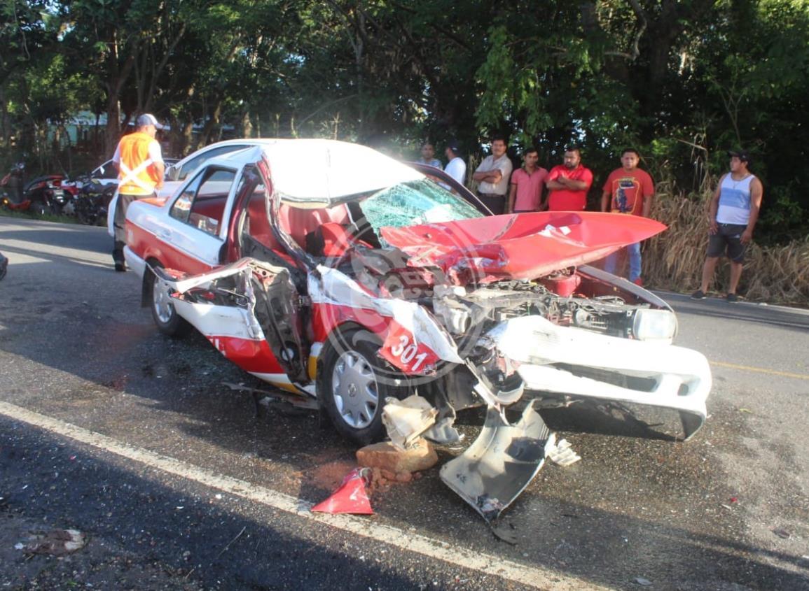 Fuerte accidente en Agua Dulce; tres personas gravemente lesionadas