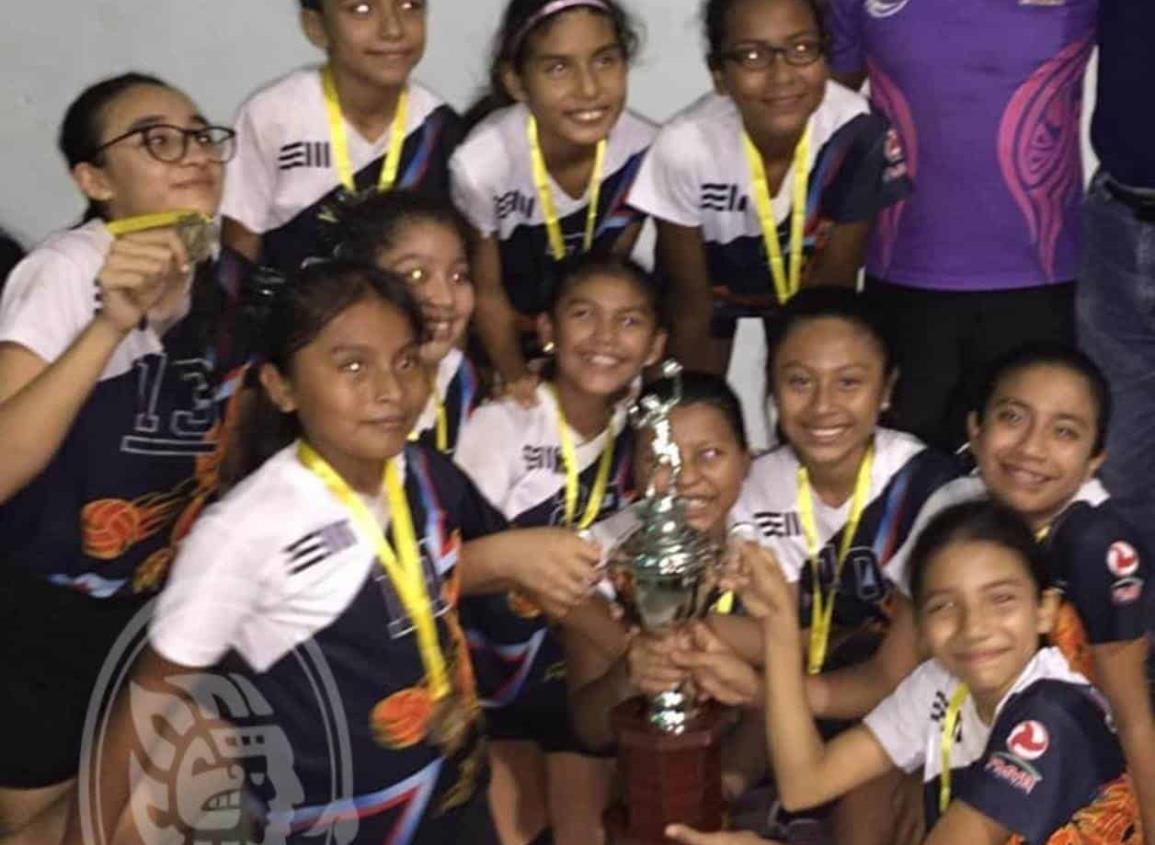 Dragonas de Jáltipan conquistan torneo relámpago de voleibol