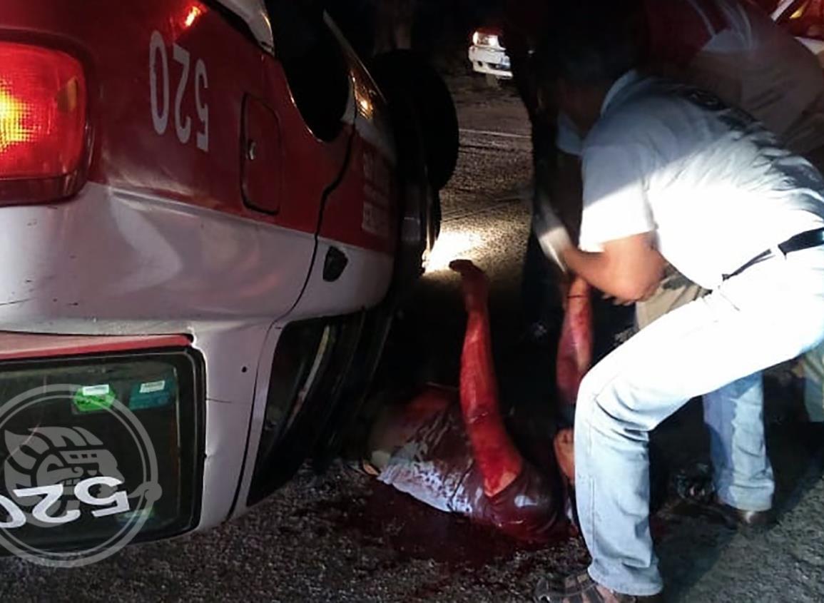 Taxista choapense baleado sigue hospitalizado
