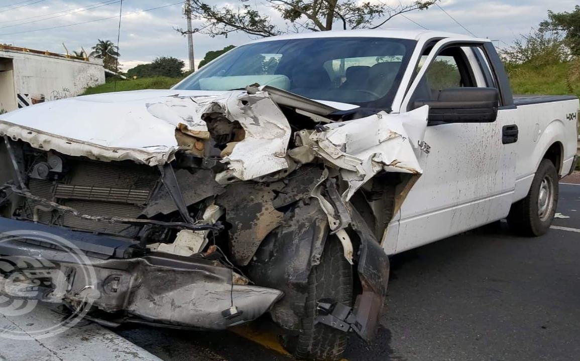 Aparatoso accidente en la autopista Cosoleacaque -Acayucan