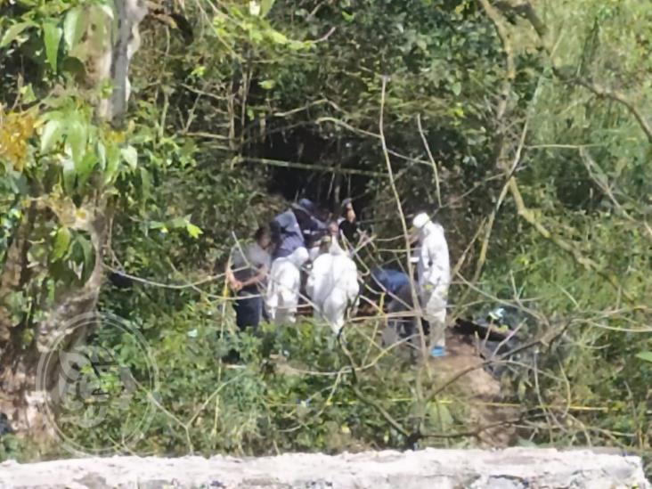 En Huiloapan exploran una posible fosa clandestina