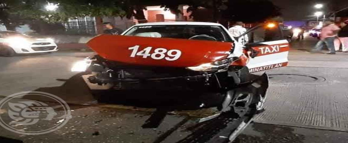 Fuerte accidente en Minatitlán, por conductor en estado de ebriedad