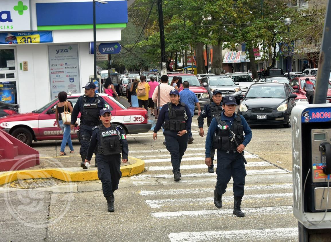 Policía de Coatzacoalcos trabaja para combatir alto índice en delitos