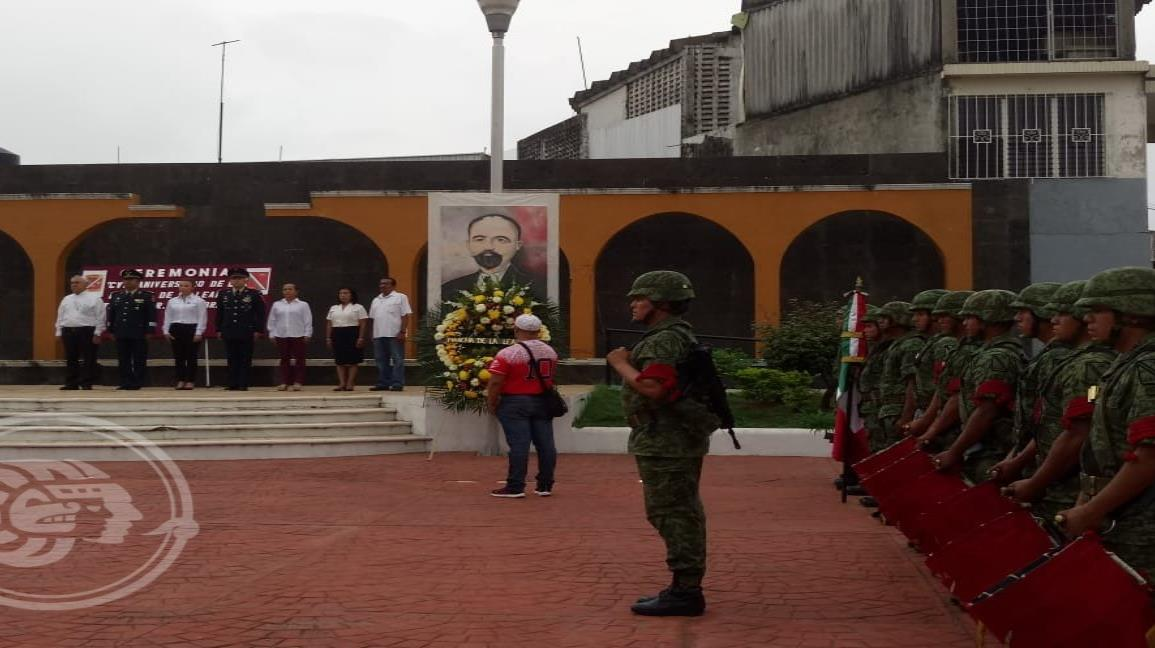 Conmemoran la Marcha de la lealtad en Minatitlán