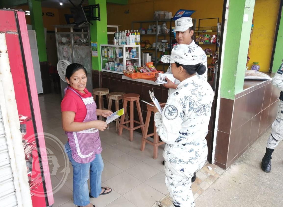 Guardia Nacional aplica recorridos en Nanchital e Ixhuatlán