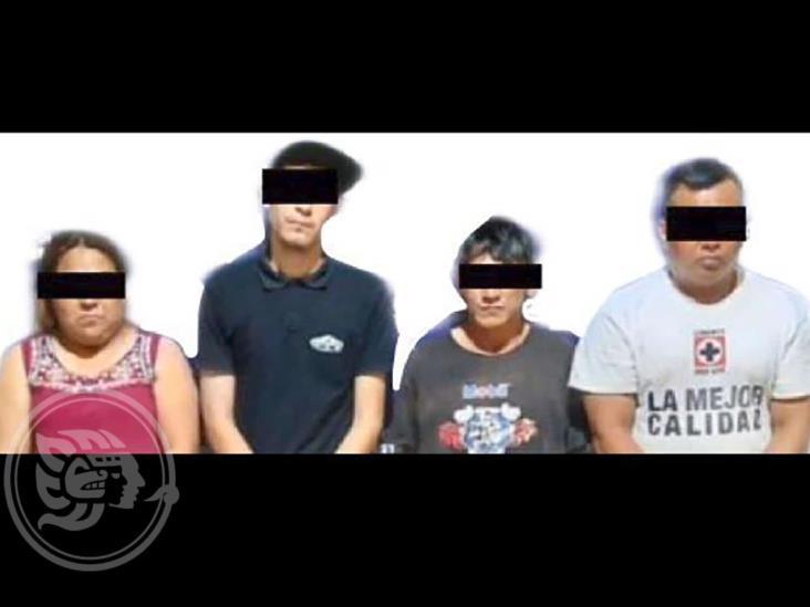 Detienen a 4 en Coatzacoalcos; les decomisan dinero y droga