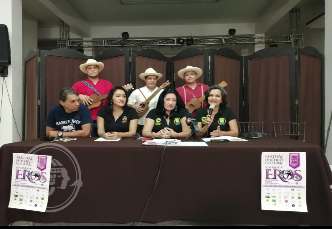Presentan cartelera del Festival Poético Cultural Susurros de Eros 2020