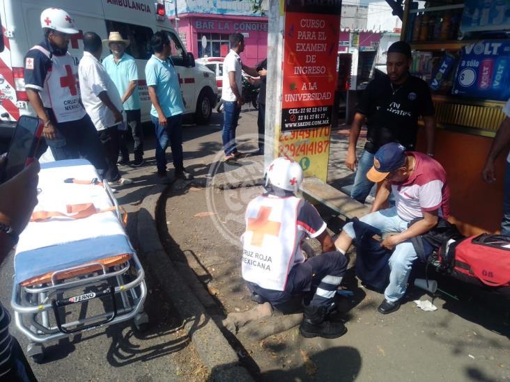 Motociclista atropella a abuelito y se da a la fuga