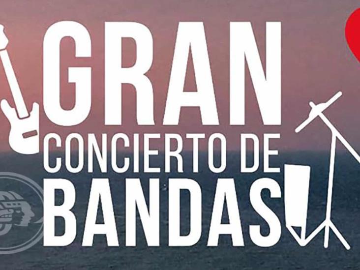 Gran concierto de bandas en la Casa de Cultura