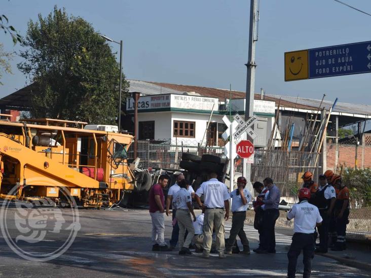 Accidente ferroviario ahoga la circulación en Orizaba