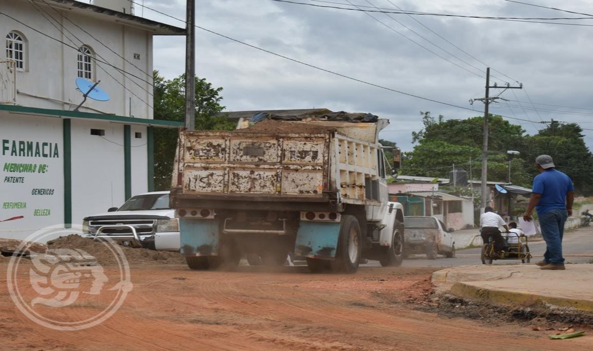 Intentan impedir obra en barrio tercero de Oluta