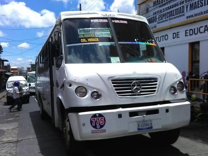 Precios preferentes afectan a transportistas de Orizaba