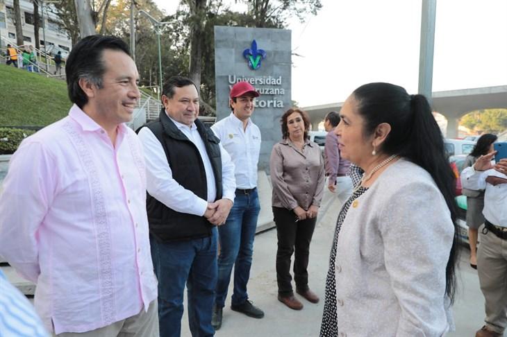 Supervisa Cuitláhuac Circuito Universitario, casi listo para inaugurarlo