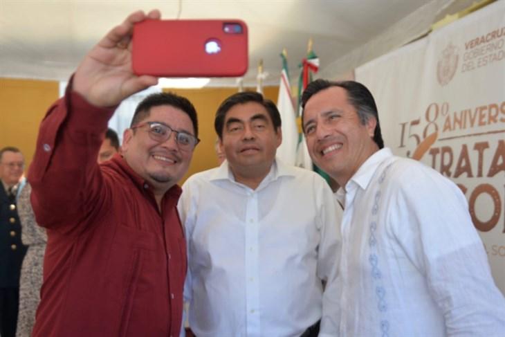 Firman Cuitláhuac y Barbosa acuerdo en Soledad de Doblado