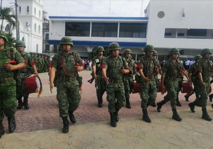 Conmemoran en Tuxpan al Ejército Mexicano