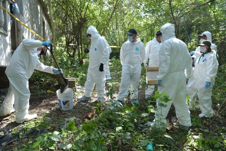 Hallan restos en predio La Gallera en norte de Veracruz
