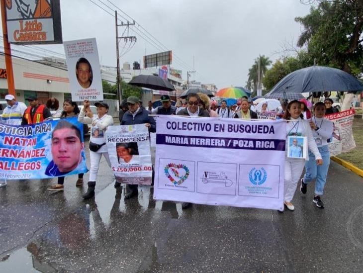 Con marcha, finaliza brigada de búsqueda en el norte de Veracruz