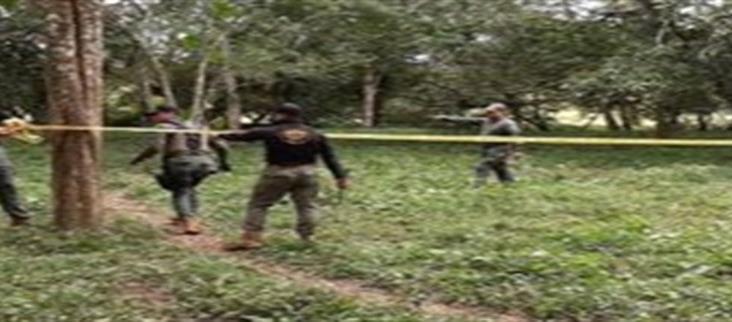 Hallan fosa clandestina con restos humanos en Playa Vicente