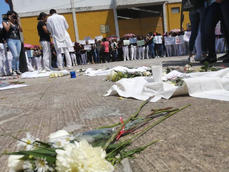 Protesta UV en Minatitlán contra la violencia
