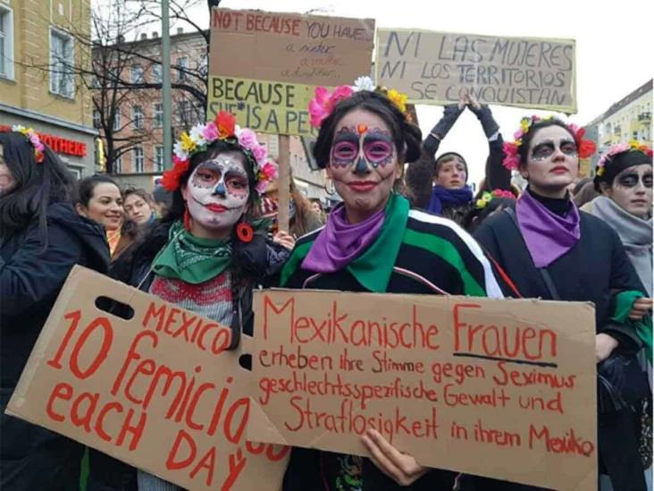 En Alemania mexicanas exigen alto a la violencia