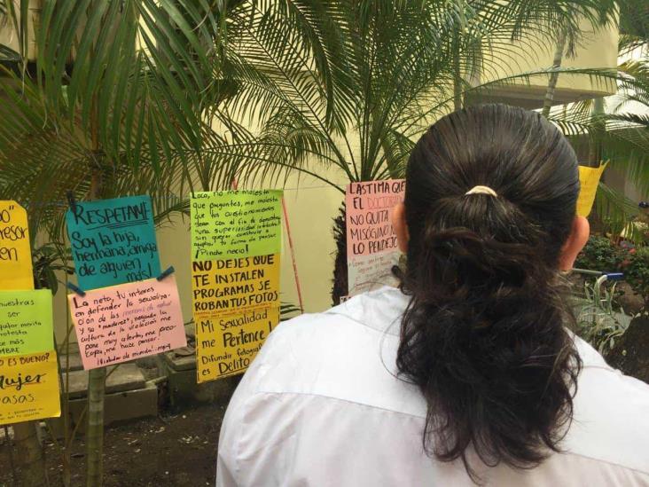 Estudiantes de Comunicación exponen misoginia en la UV