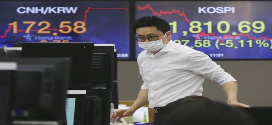 Se desploman las bolsas en Asia tras caída de Wall Street