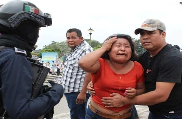 Antimotines desalojan bloqueo en sede de Cumbre Tajín 2020