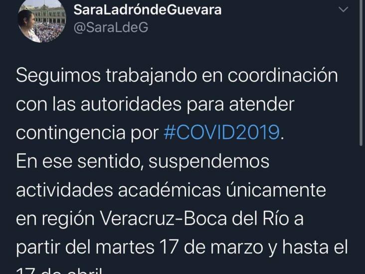 UV suspende actividades en Veracruz-Boca del Río