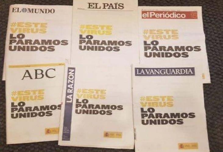 Se unen periódicos españoles contra el coronavirus