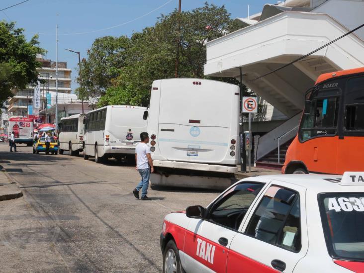 Urbanos en Coatzacoalcos saldrían de circulación por pandemia