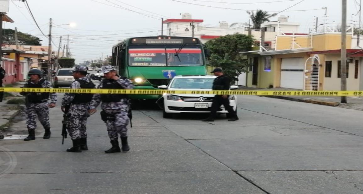 Disparan contra automóvil en Coatzacoalcos